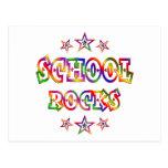 Rock de la escuela de las estrellas tarjeta postal