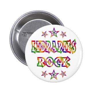 Rock de las bibliotecas de las estrellas pin redondo 5 cm