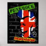 Rock de punk - unión jack Mohawk Poster