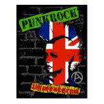 Rock de punk - unión jack Mohawk Tarjetas Postales