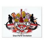"""Rock! - Designer Stag Party Invitation 4.25"""" X 5.5"""" Invitation Card"""