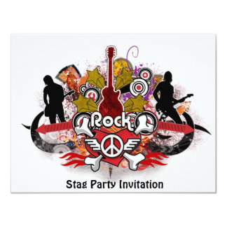 Rock! - Designer Stag Party Invitation