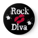 """'Rock Diva In Black"""" Button"""
