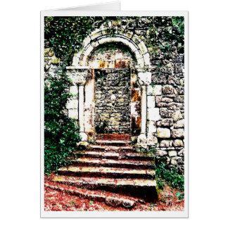 Rock Doorway and stairs in Moorish Castle Card