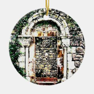 Rock Doorway and stairs in Moorish Castle Ceramic Ornament
