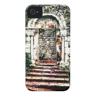 Rock Doorway and stairs in Moorish Castle iPhone 4 Case-Mate Case
