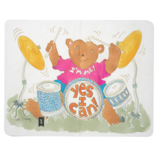 """rock drummer bear truly believes """"YES I CAN!"""" Journal"""