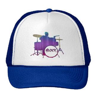 Rock Drummer Trapset Music Hat