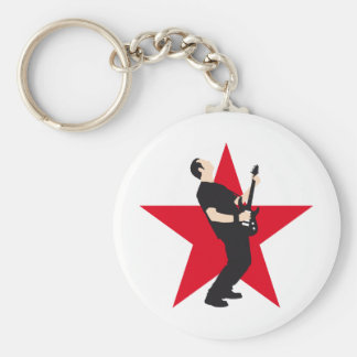 rock e-guitar more player keychain