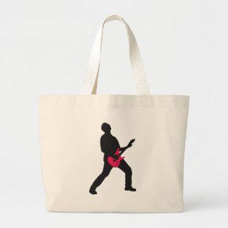 rock e-guitar more player large tote bag