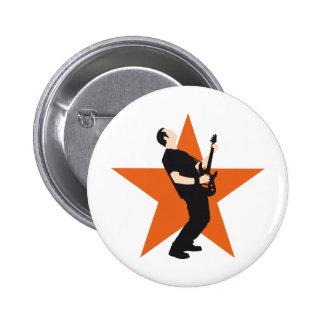 rock e-guitar player pin