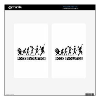 Rock Evolution funny design Decal For Kindle Fire