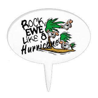 Rock Ewe Like A Hurricane Cake Pick