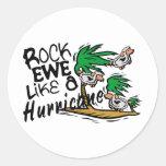 Rock Ewe Like A Hurricane Classic Round Sticker