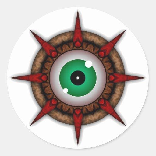 Rock Eye Parasite Classic Round Sticker