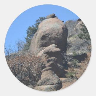 Rock Face Classic Round Sticker