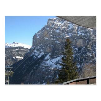 Rock face Gimmelwald Jungfrau Switzerland Postcard