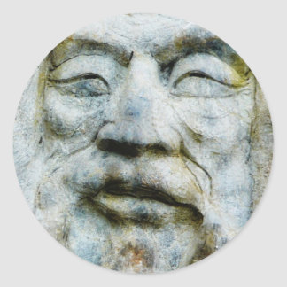 Rock Face - Man Carved in Stone Classic Round Sticker