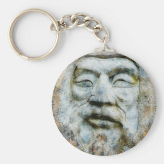 Rock Face - Man Carved in Stone Keychain