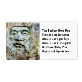 Rock Face - Man Carved in Stone Shipping Label