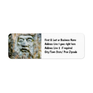 Rock Face - Man Carved in Stone Return Address Label