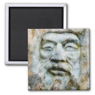 Rock Face - Man Carved in Stone Magnet