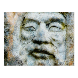 Rock Face - Man Carved in Stone Postcard
