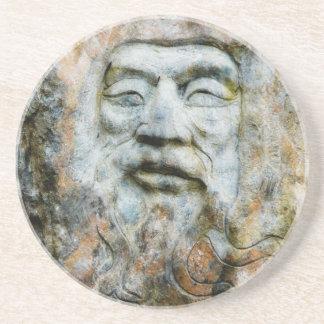 Rock Face - Man Carved in Stone Sandstone Coaster