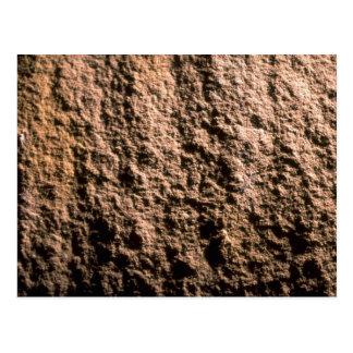 Rock face texture postcard