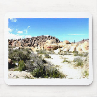 Rock Face with Lipstick Mouse Pad