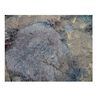 rock faces postcard