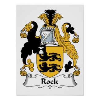 Rock Family Crest Poster