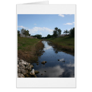 Rock Fence Water House Florida Picture Card