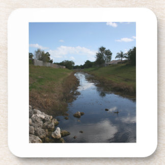 Rock Fence Water House Florida Picture Coaster