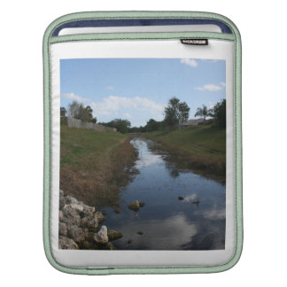 Rock Fence Water House Florida Picture iPad Sleeve