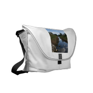 Rock Fence Water House Florida Picture Courier Bag