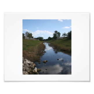 Rock Fence Water House Florida Picture Photo Print
