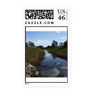 Rock Fence Water House Florida Picture Stamps