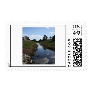 Rock Fence Water House Florida Picture Postage Stamps