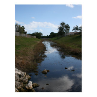 Rock Fence Water House Florida Picture Post Card