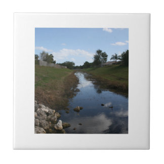 Rock Fence Water House Florida Picture Tile