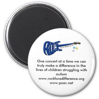 Rock For A Difference Pin 2 Inch Round Magnet