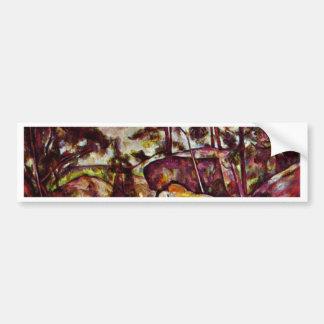 Rock Forest Of Fontainebleau By Paul Cézanne Car Bumper Sticker