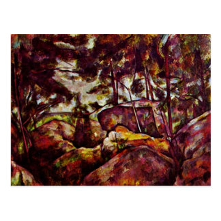 Rock Forest Of Fontainebleau By Paul Cézanne Postcard