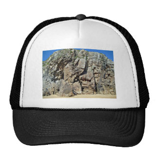Rock formation against a clear blue sky trucker hat