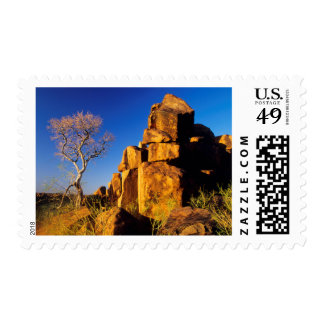 Rock Formation And Tree, Giant's Playground Postage