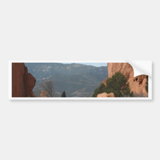 Rock formation bumper sticker