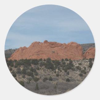 Rock formation classic round sticker