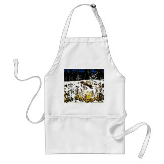Rock Formation in the Snow Adult Apron