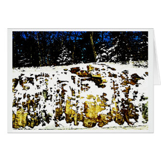Rock Formation in the Snow Card